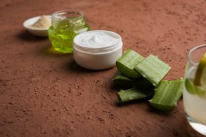 Products with aloe vera gel